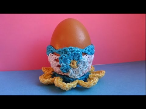 Crochet Easter Egg Пасхальное яичко Вязание крючком подставка