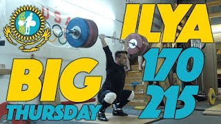 Big Thursday: Ilya Ilyin 170kg Snatch 215kg Clean and Jerk Training Session