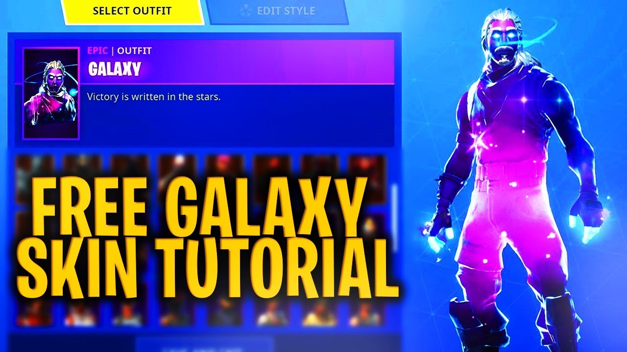 How to get galaxy skin free still works fortnite battle royale youtube - Fortnite galaxy skin free ...