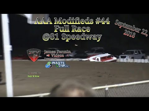 AAA Modifieds #44, Full Race, 81 Speedway, 09/22/18
