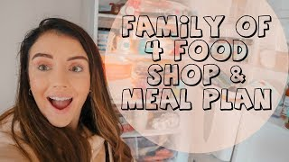 Download Video GROCERY SHOP UNDER £60 | FAMILY OF 4  FOOD SHOP | PLAN MEAL MP3 3GP MP4