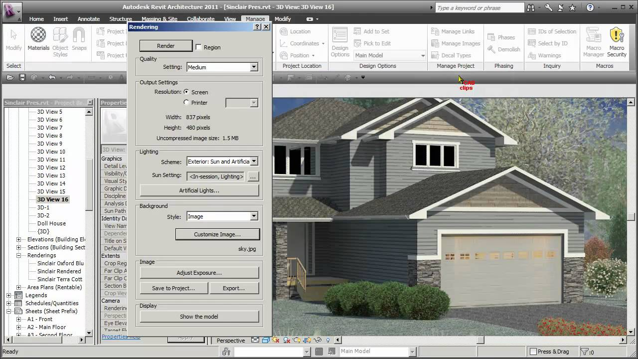 Awesome REVIT Rendered Garage Door   CADclips   YouTube