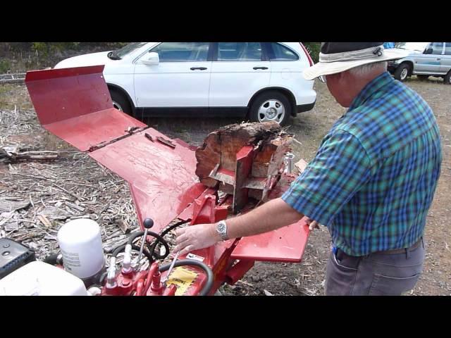 Canadian Split-Fire Log Splitter Demonstration