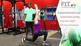 Forever F.I.T. Exercises - Overhead Backward Lunges