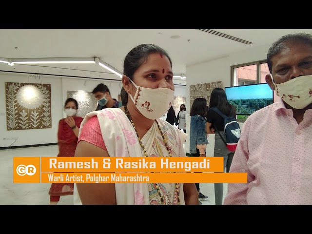 India Craft Week 2021 || Warli Artist Ramesh Hengadi and Rasika Hengadi || Warli Art Painting ||