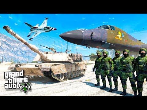 АРМИЯ РОССИИ ПРОТИВ США В ГТА 5 МОДЫ! ТРЕТЬЯ МИРОВАЯ ВОЙНА ОБЗОР МОДА GTA 5! ГТА МОД (GTA 5 Mods)