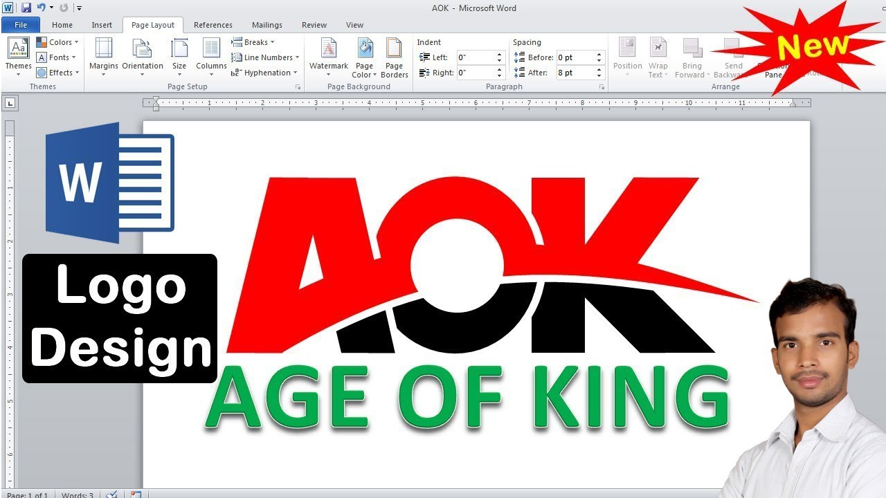 how to make a logo design in microsoft word