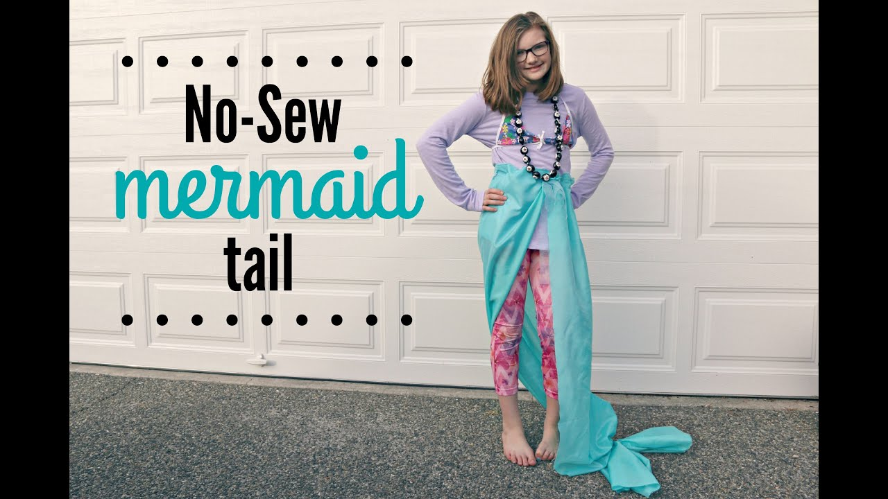 No Sew Mermaid Tail And Costume Diy Jenny On The Spot