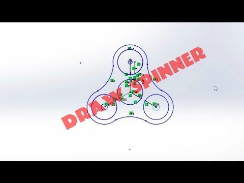 How to draw tri hand spinner on solid work –  Cách vẽ hand spinner đơn giản trên phần mềm solid work