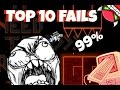 Top 10 Most Stupid Fails Ever In Insane Demons [GEOMETRY DASH]