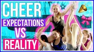 CHEERLEADING Expectations vs  Reality w/ Avrey Ovard!
