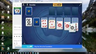 Windows 10 - Solitaire is back again, but with challenges & credits now.