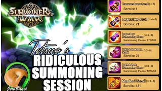 SUMMONERS WAR : Tetsuo's Legendary Summoning Session!!!