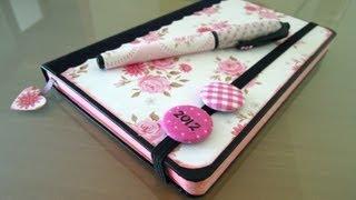 Manualidades de papel: Cómo decorar una agenda