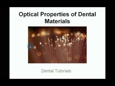 Optical Properties of Dental Materials - Metamerism - Munsell Colour System - Shade Taking