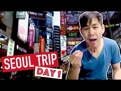 Exploring and Shopping Namdaemun Market and Myeongdong Market 2017