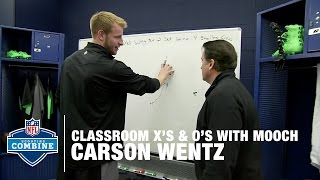 Carson Wentz (North Dakota St., QB) Chalkboard Session | 2016 NFL Combine Primetime