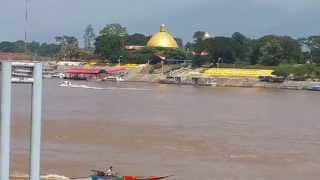 The casinos on Mekong river  see from  g...