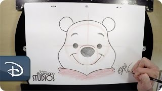 How to Draw Winnie The Pooh | Disney