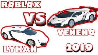 W MOTORS LYKAN vs LAMBORGHINI VENENO (Roblox, 2019)