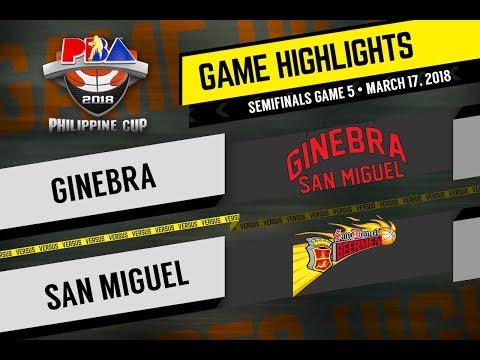 PBA Philippine Cup 2018 Highlights: San Miguel vs Ginebra Mar. 17, 2018