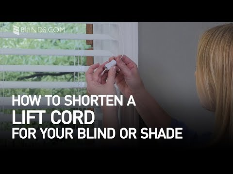How To Shorten A Lift Cord On Blinds Or Shades