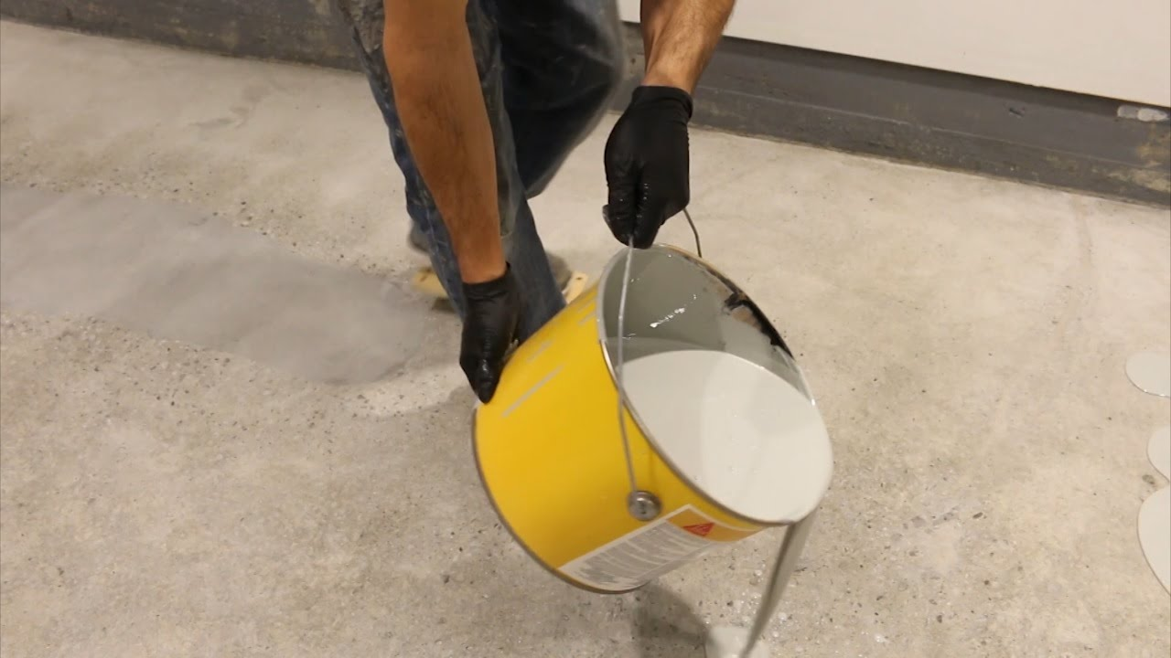 EASY  How to DIY Epoxy on Garage Floor Part 5 Applying