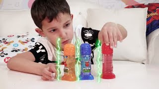 Stefan Pretends Superheroes Play With Magical Toy Food | Funny cartoons For Kids