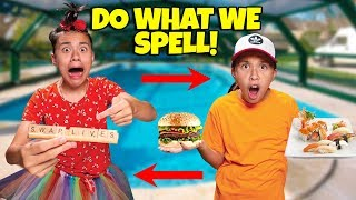 I'LL DO WHATEVER YOU CAN SPELL CHALLENGE!!! Kids Swap Lives!