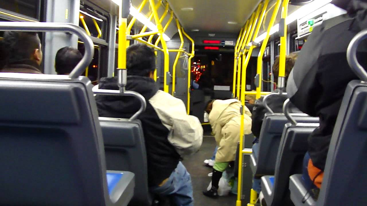 Mta New York City Bus Riding Inside Of The Orion Vii 501