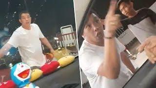 Ditegur untuk Antre di Gerbang Tol , Pria Ini Malah Marah marah, Videonya Viral