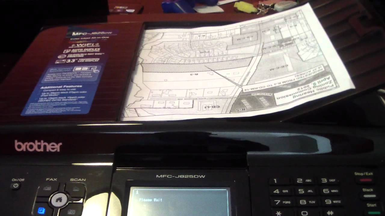 BROTHER MFC - J825DW PRINTER REVIEW WIFI 825 FAX SCAN COPY
