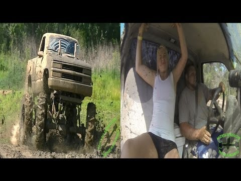 WILD RIDE IN A MUD TRUCK!!!  FUNNY!!!