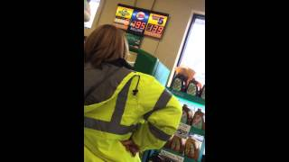 Lady flips out on crackhead in bayonne quick chek