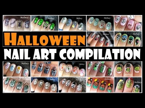 HALLOWEEN NAIL ART COMPILATION | MELINEY DESIGNS