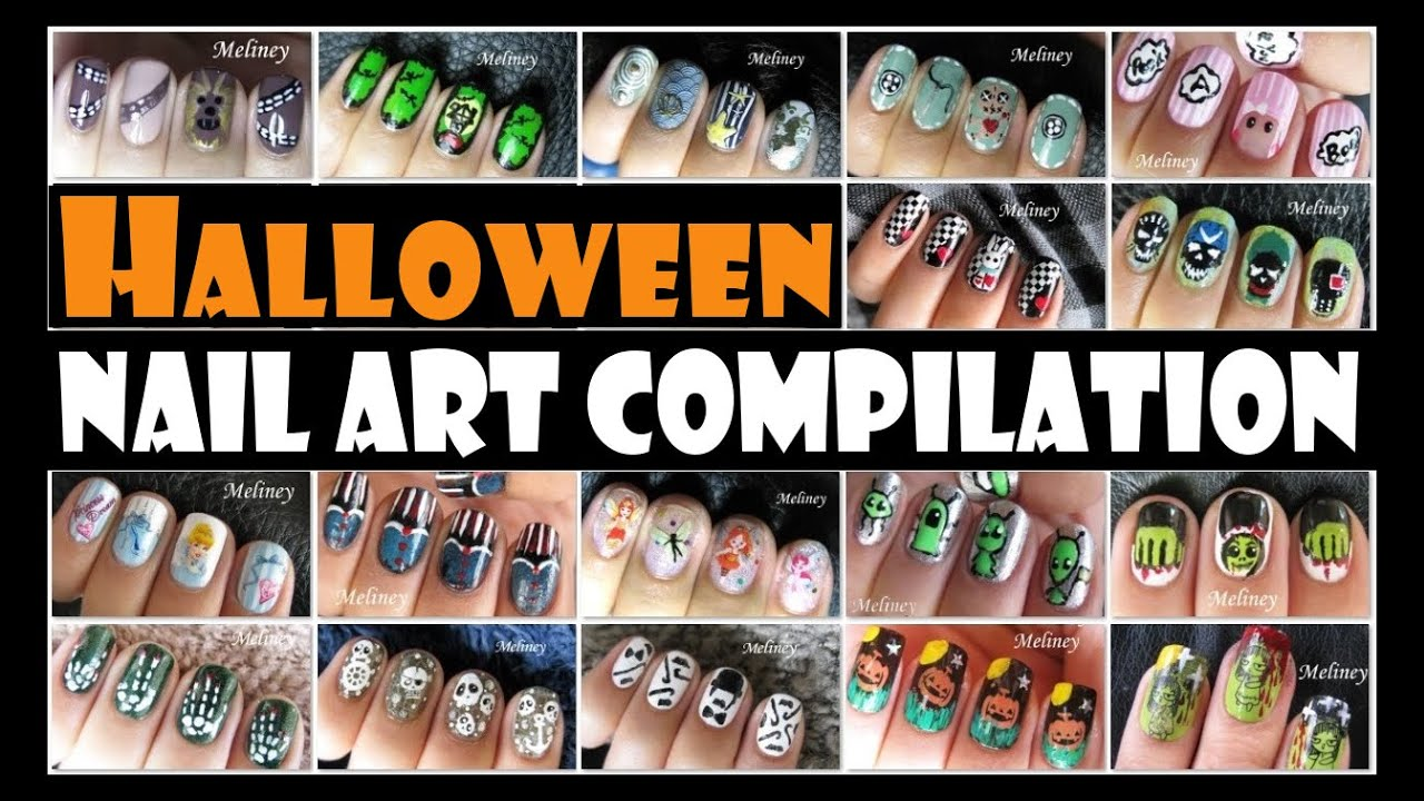 HALLOWEEN NAIL ART COMPILATION | MELINEY DESIGNS - YouTube