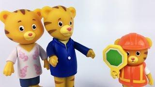 Daniel Tiger as Crossing Guard | Traffic Rules Kids Learning Video | Daniel tiger neighborhood Video