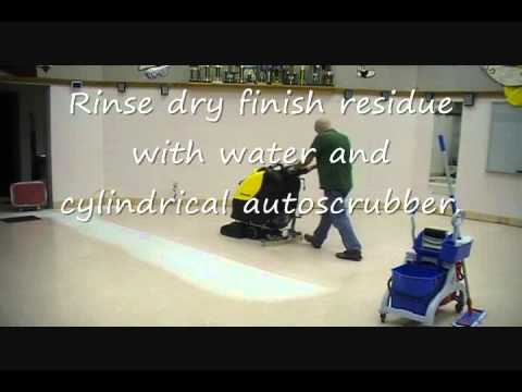 Floor Tech Dry Stripping Youtube