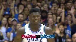 Zion Williamson Duke vs St. John's - Highlights | 2.2.19 | 29 Pts, 6 Reb, 5 Steals