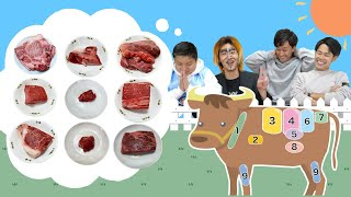 【満腹地獄】これどこの肉!?食べた肉の部位当てバトル!!!