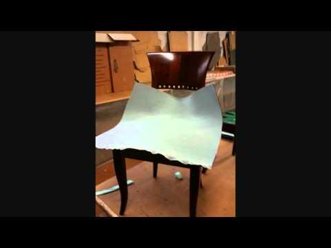 come fare l imbottitura e ritappezzare una sedia. visita il mio canale youtube SuperGianluca1977