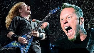 This is a guitar battle between James Hetfield and Dave Mustaine! H...
