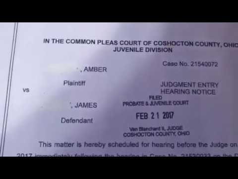 PROOF HEARING FOR CHILD SUPPORT DEMAND FOR DISMISSAL AFFIDAVIT WORKING IN OHIO!!!