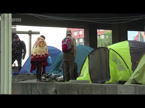 Le camp de migrants de la porte de La Chapelle évacué