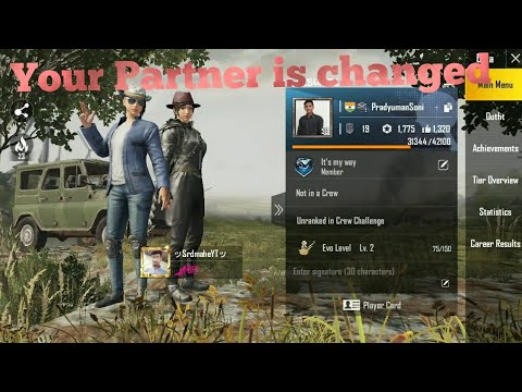 How to add partner in pubg / how to change partner in pubg