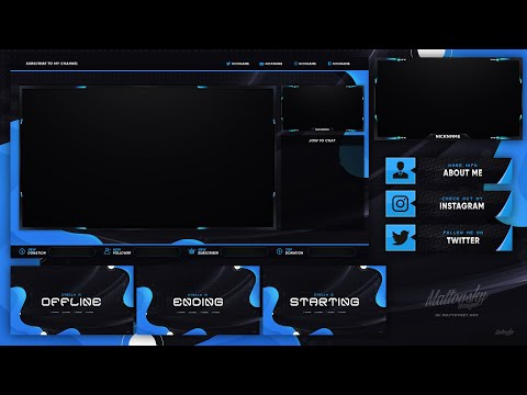 DOWNLOAD BEST FREE STREAM OVERLAY TEMPLATE 2020 - VARIOUS COLORS