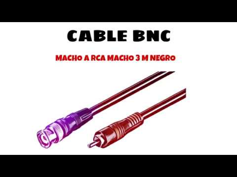 Video de Cable BNC macho a RCA macho 3 M Negro