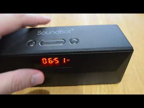 SoundBot SB1023 bluetooth alarm clock fm radio wireless speaker unboxing