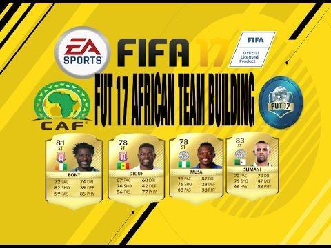 PS4 FIFA 17 Ultimate Team Africa United Black Stars Squad Building