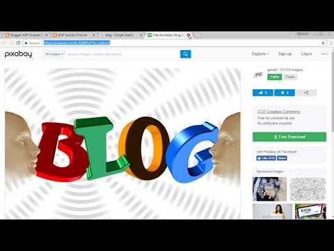 How to create blog posts with articles and public domain images